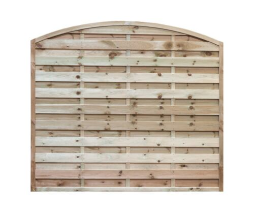 5ft x 6ft Imperial Horizontal Arched Tanalised Fence Panel NATIONWIDE DELIVERY