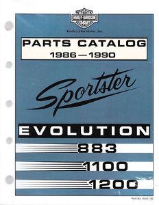 1986 1990 harley sportster evo 883 1100 1200 xlh parts manual rh ebay com 1990 Sportster 1994 Sportster 883 Models