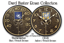 Whitehall Dard Hunter Clock OR Thermometer.  Order 1 OR Both! Blue OR Amber Rose