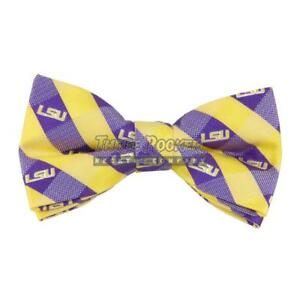 Tigers Bow Tie Pre-tied LSU Tigers Bow Ties FREE SHIPPING NWT