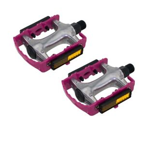 """New Bicycle Alloy Fixie Pedals Alloy 9//16/"""" Pink."""