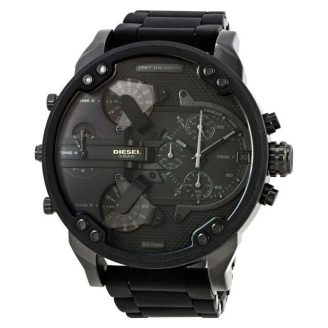 Brand New Diesel DZ7396 Mr.Daddy 2.0 Black Stainless Steel Silicone Men's Watch