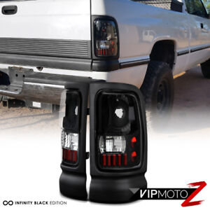 Details About 1994 1995 1996 1997 1998 1999 2000 2001 Dodge Ram Truck Black Tail Lights Lamps