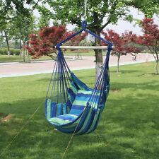 swing hammock chair seat indoor outdoor garden patio yard single hanging rope us