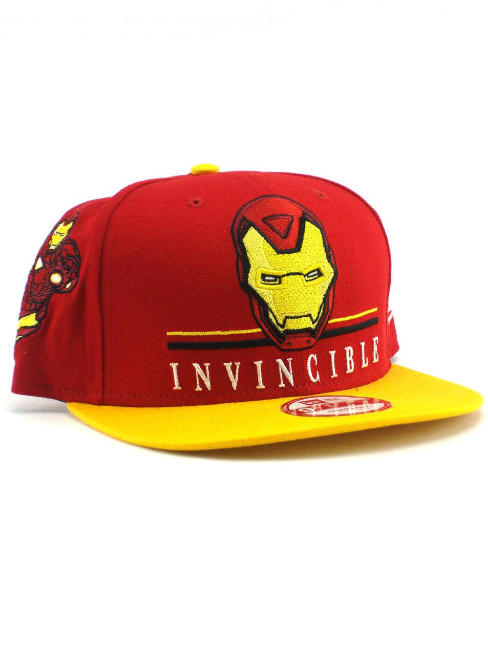 New Era Hat Iron Man 9fifty Snapback Hat Era Invincible Adjustable Marvel Avengers NWT da3114