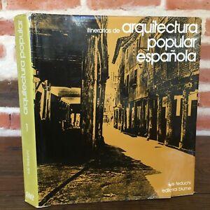 Itinerarios-Arquitectura-Popular-Espanola-1-Luis-Feduchi-Editorial-Flor-1974
