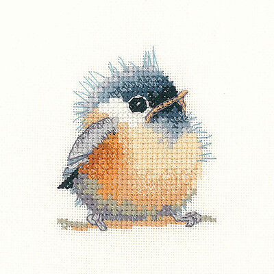 Heritage Crafts Little Friends Chickadee Counted Cross Stitch Kit