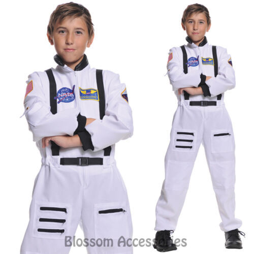 CK696 Astronaut Boys Girls Deluxe Space Man Fancy Dress Kids NASA Costume Outfit