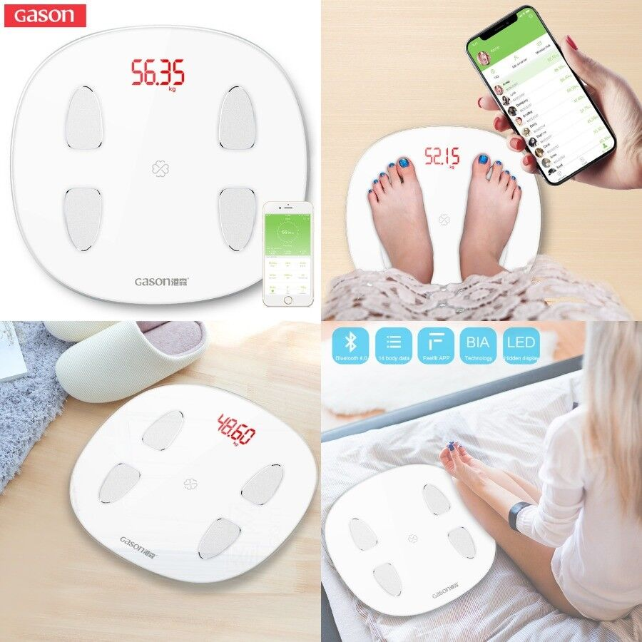 Bathroom Digital Body Fat Weight Bmi Scale with Blautooth for Ios and Android