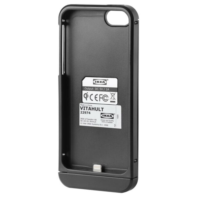 Ikea Vitahult Qi Wireless Charging Cover For Iphone 5 5s Black Online Ebay