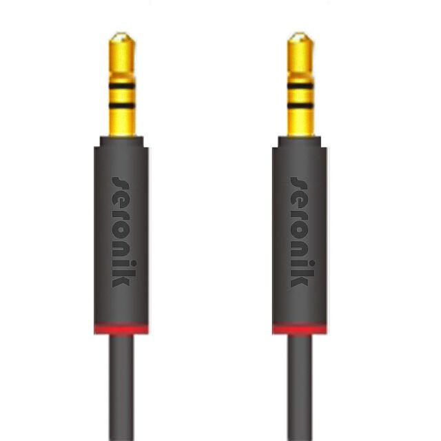 2m AUX Kabel Auto 3,5mm Stereo Klinken Audio Klinke Stecker Anlage iPhone Handy