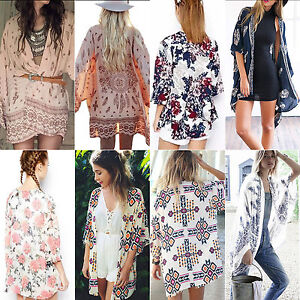 Womens-Summer-Kimono-Cardigan-Boho-Floral-Beach-Cover-Up-Coat-Blouse-Shawl-Tops