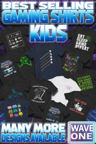 Kids Retro Gaming T-Shirts Boys Girls SWITCH PS4 Xbox Playstation 80s Gamer Top