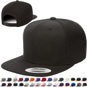 c9a8b249eee1e Yupoong Classic Snapback Baseball Cap Plain Blank Snap Back Hat 6089 ...