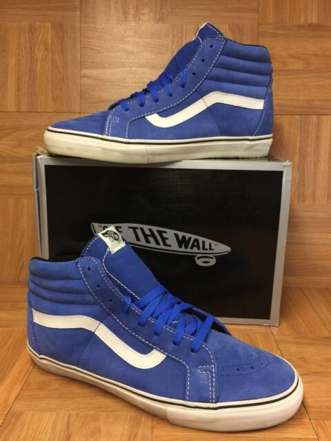 052201aa4b EUC🔥 VANS Vault Sk8-Hi Notchback Premium LX 13 Skateboarding Classic Blue  Suede