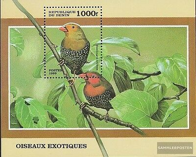 Never Hinged 1999 Small Birds Out All World Pleasant To The Palate Benin Block45 Unmounted Mint Animal Kingdom
