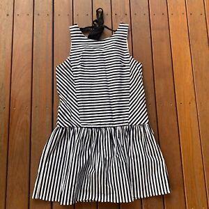DO-amp-BE-Size-S-Black-amp-White-Contrast-Stripe-Mini-Dress-Party-Cocktail