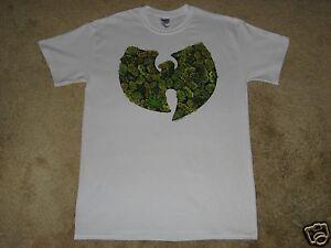 d614f92f0522 Wu-Tang Clan Pot Leaf Logo S, M, L, XL, 2XL White T-Shirt   eBay
