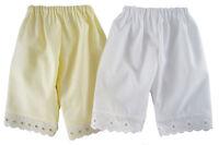 2 Pair White & Cream Pantaloons For American Girl Samantha Kirsten Doll Clothes