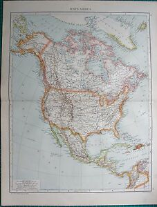 Map Of America Ebay.Details About 1893 Antique Map North America
