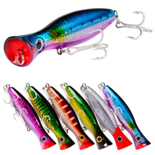New Large Top Water Popper Saltwater Wobbler Fishing Lure Bass Crankbait 13CM