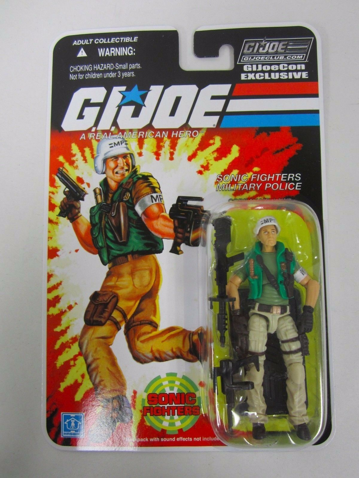 G.I JOE 2018 CON CONVENTION JOECON SONIC FIGHTER EXCLUSIVE FIGURE MOC LAW ORDER
