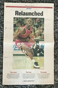 Vintage! MICHAEL JORDAN 1995 Chicago Tribune RELAUNCHED Bulls NEWSPAPER Section