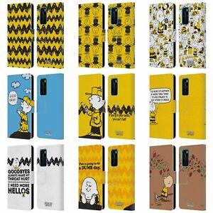 Dettagli su UFFICIALE Peanuts Charlie Brown In Pelle Libro Portafoglio Custodia Cover Per Telefoni HUAWEI- mostra il titolo originale