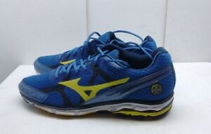 new product f31ad 69ac0 Details about Mizuno Wave Rider 17 Men Mesh Blue Athletic Lace Up Sneaker  Running Shoes 13M 47