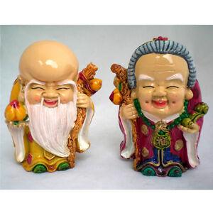 Statuettes-figurines-chinoises-couple-de-vieux-sages-longevite