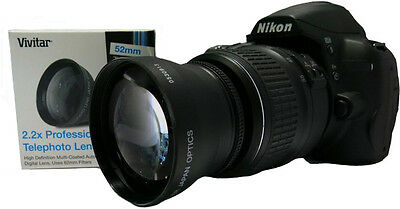 2.2x ZOOM Telephoto  Lens for Nikon D3200  D3000 D5100 D5000 D5200 D40 D60 D700
