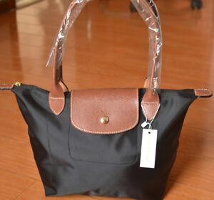 bb3423764ae Image is loading NEW-Longchamp-Le-Pliage-Black-tote-bag-Small-