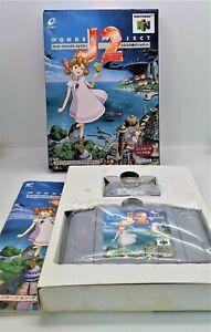 Wonder proyecto J2 de vídeo juego para Nintendo N64 NTSC-J Japonés Probado en Caja