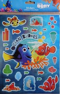 BANDTILEDisney Findet Dorie*Nemo 2 *Aufkleber * Sticker*2 x Bögen*Neu*OVP