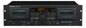 Tascam-202MKVII-Rackmount-Professional-Dual-Cassette-Deck-with-USB-OUT-remote