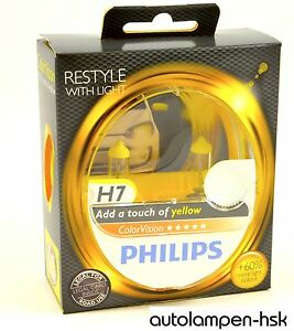 PHILIPS-ColorVision-H7-AMARILLO-Bombillas-Halogena-Juego-De-2-Art-No