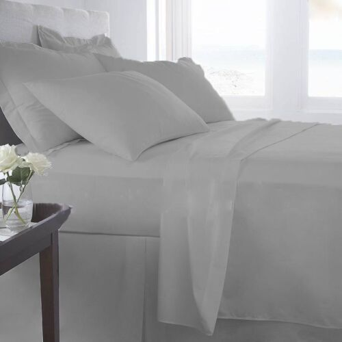 1000 Thread Count Egyptian Cotton Premium Bedding Items All Sizes Silver Grey