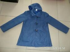 Anne De Lancay Blue Duffle Coat 48917 Size UK M LS082 AA 11
