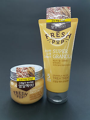 Amore Pacific Fresh Pop Super Granola Recipe Hair Mask Pack + Treatment Set