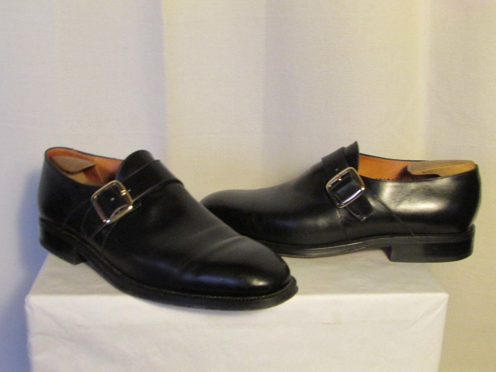 Schuhe Vintage Christian Pellet Schwarzes Leder Größe 9,5