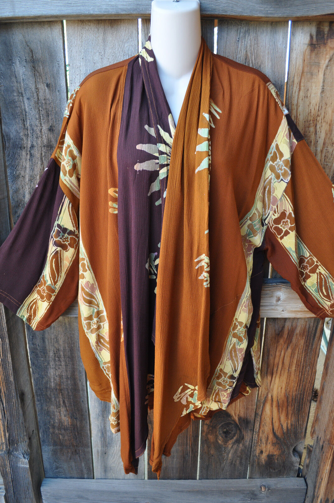 MISSION CANYON ART TO WEAR 51 SHORT KIMONO DUSTER IN ALL NEW COPPER CANYON, OS+
