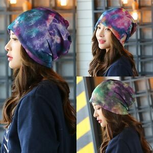 New-Men-039-s-Women-Unisxe-Galaxy-Knitted-Slouch-Beanie-Cap-Ski-Hat-Warm-Winter