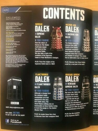 Eaglemoss Doctor Dr Who Figurine Collection Magazines CHOICE