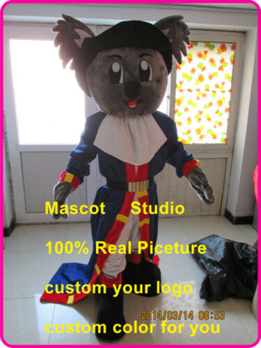 Details about  /Pirate Koala Mascot Costume Suit Cosplay Party Game Dress Outfit Halloween Adult