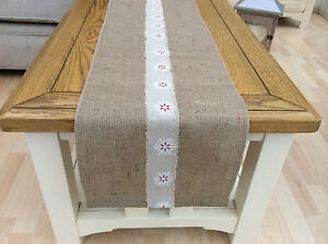 80 Hessian Burlap Ribbon French Country Vintage Rustic Christmas