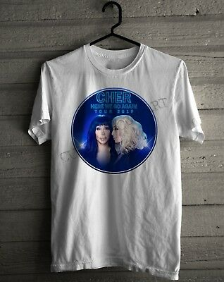 CHER Here We Go Again Tour 2019 logo pop diva Men/'s New T shirt S to 3XL