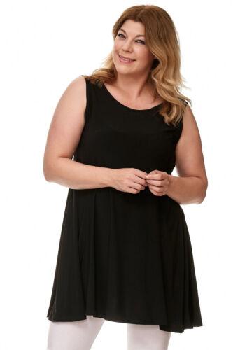 Damen Sommerkleid Cocktailkleid Tunika Strand Party Longtop Träger Top schwarz