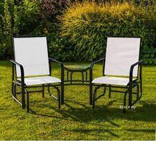 Cream 2 Two Seater Rocking Chair Garden Furniture Rocker Love Seat Outdoor Table