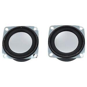 2pcs 52mm 2 Inch 4ohm 3w Full Range Audio Speaker Stereo Woofer Loudspeake A5t1)