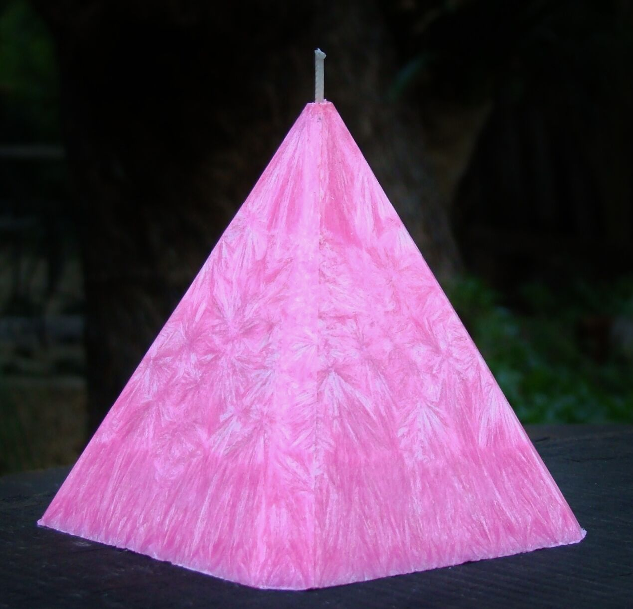 1KG 150hr PINK FRANGIPANI & JASMINE Triple Scented 4 SIDED EGYPT PYRAMID CANDLE